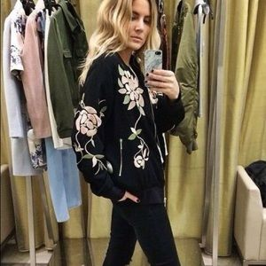 Topshop RARE Embroidered Bomber